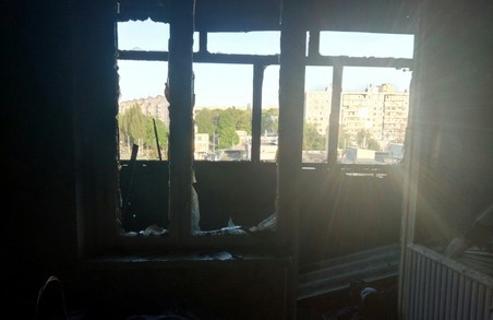 У Харкові рятувальники ліквідували пожежу в квартирі 9-ти поверхового будинку