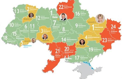 Харківщина під керівництвом Світличної третій рік поспіль посіла перше місце серед областей України