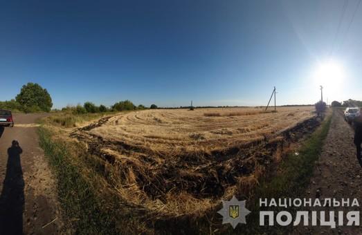 На Харківщині  під час збору врожаю на полі виявили саморобний піротехнічний пристрій (ФОТО)