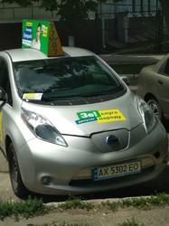 По Харкову курсувало таксі з політичною рекламою