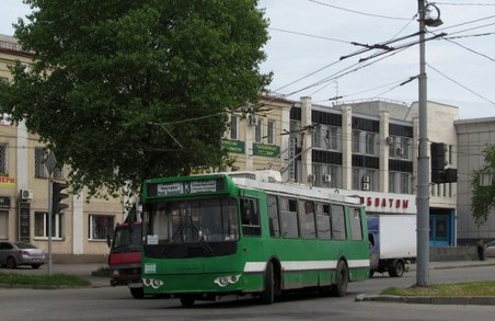Деякі тролейбуси курсуватимуть Харковом за зміненим маршрутом