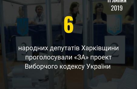 Шість харківських нардепів проголосували за проект Виборчого кодексу
