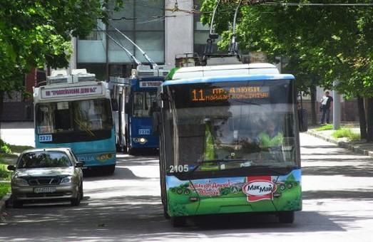 Тролейбус №11 кілька днів курсуватиме Харковом за іншим маршрутом