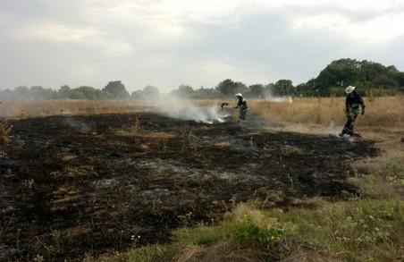 Рятувальники Харківщини загасили 25 пожеж на відкритих просторах