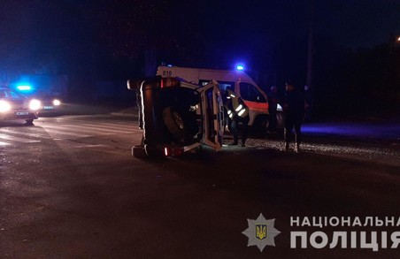 В Харкові трапилась ДТП за участі поліцейського авто
