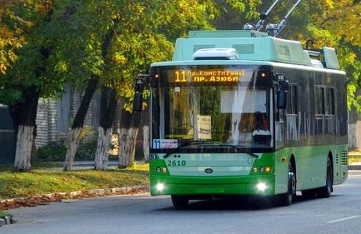 Один з харківських тролейбусів змінив маршрут