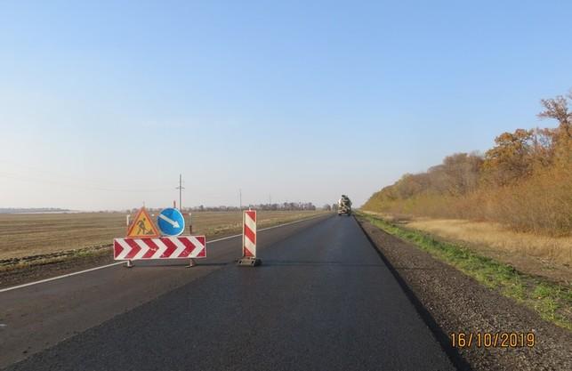 На трасі Мерефа-Лозова-Павлоград продовжуються роботи до кордону з Дніпропетровською областю (ФОТО)
