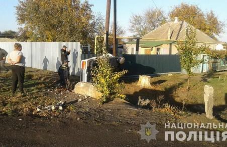 На Харківщині підліток перекинув автівку: травмовано дві людини (ФОТО)