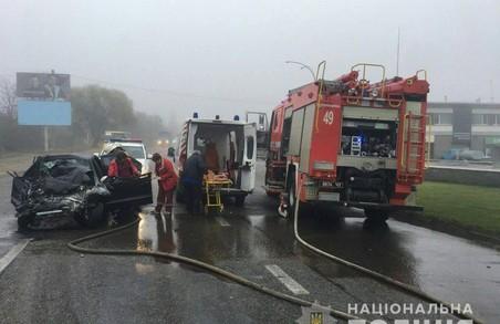 У ДТП під Харковом травмовано людину (ФОТО)
