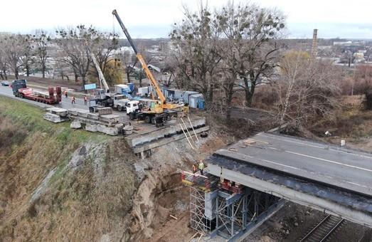 Ремонт мосту біля Пісочина виконано на 60% (ФОТО, ВІДЕО)