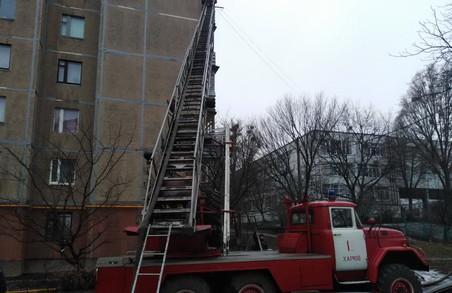 У Харкові під час пожежі у квартирі житлової багатоповерхівки рятувальники врятували дитину