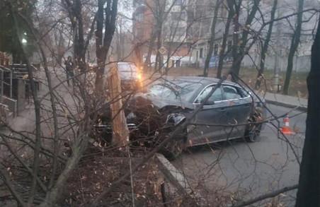 У Харкові п'яний водій протаранив дерево (ФОТО)