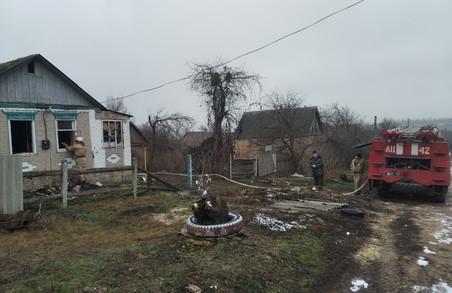 На Харківщині під час ліквідації пожежі у приватному будинку знайдено тіло загиблого господаря