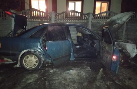 Під Харковом згорів автомобіль «Audi 100»