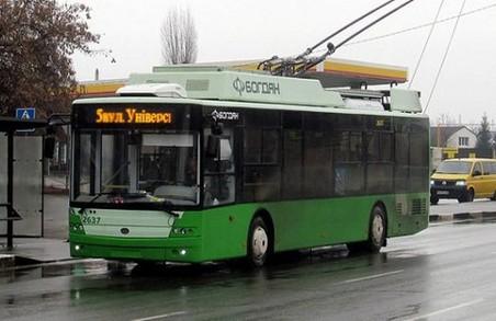 У Харкові тролейбуси курсують по новим маршрутам, трамваї – майже без змін