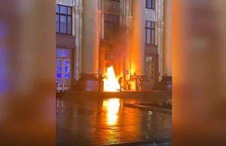 Підпал дверей ХОДА: обвинувальний акт направлено до суду