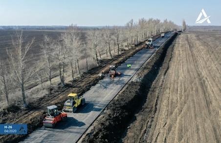 На Харківщині продовжується ремонт дороги Чугуїв-Мілове (ФОТО, ВІДЕО)