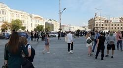 «Шарик, улітай»: прибічників Шарія в центрі Харкова закидали яйцями (ФОТО)