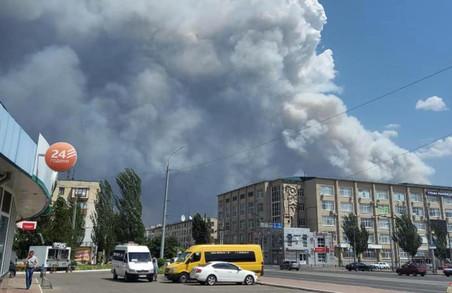 Дим від масштабної пожежі на Луганщині дістався Харкова (відео)