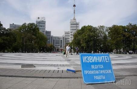 Не довго музика звучала: новий фонтан на площі Свободи в Харкові закрили на профілактику
