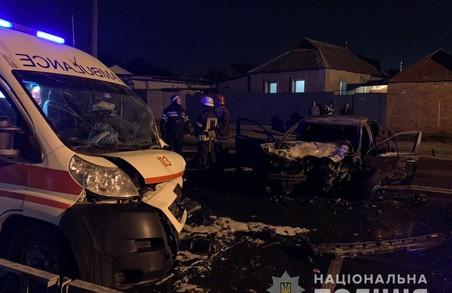 Поліція з'ясовує обставини ДТП зі «швидкою», в результаті якої травмувались три людини (ФОТО)