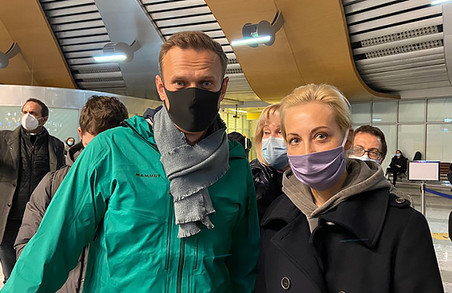 Російського опозиціонера Навального затримали прямо в московському аеропорту «Шереметьево»