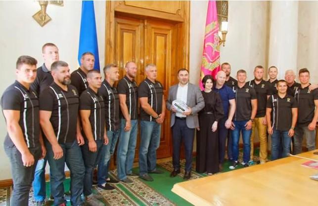 Голова Харківської облради Артур Товмасян привітав з чемпіонством регбістів Ярославського (ВІДЕО)